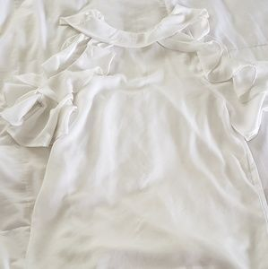 Boutique white flowy top